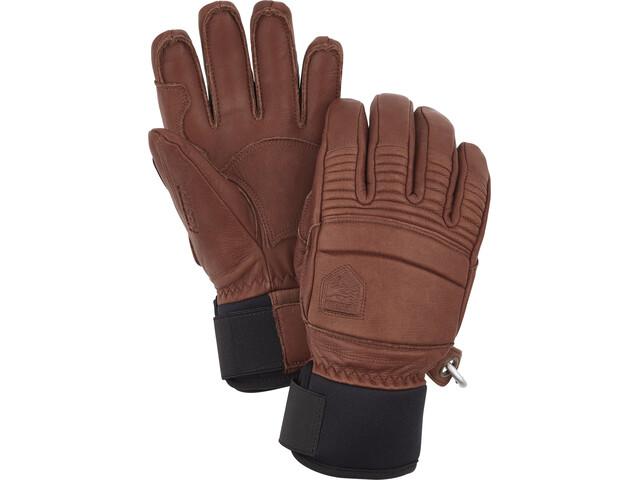 Hestra Leather Fall Line 5-Finger Handschuhe brown